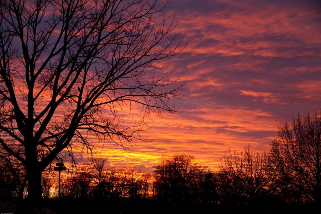 Fiery Illinois Sunset