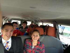 Taylor was privileged to have some cousins accompany him to the MTC dropoff