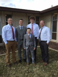 Luke was ordained a Deacon and his dad had a lot of help