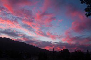 Beautiful sunset over Tehachapi, CA